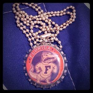 Jewelry - UF Gators bottlecap necklace, vintage logo
